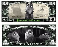 OUR FRANKENWEENIE CARTOON DOLLAR BILL (FREE HARD DURABLE PROTECTIVE SLEEVE)