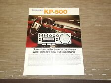 Pioneer KP-500 Car Stereo  Cassette tape with FM radio  Original Catalogue