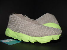 2014 NIKE AIR FOOTSCAPE DESERT CHUKKA CHINO BEIGE VOLT BLACK 652822-200 NEW 11.5