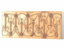 10x ENGRAVED WOODEN GUITARS gift tags craft art wood plaque embellishment card