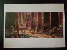 Vintage Star Wars ROTJ Ralph McQuarrie Endor Battle AT-ST Ewok 11 x 14 Art Print