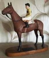 BESWICK HORSE RACEHORSE ARKLE JOCKEY PAT TAAFFE UP CONNOISSEUR No 2084 PERFECT
