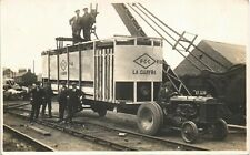 More details for west hartlepool. tractor & lower deck of tram being delivered or transferred.