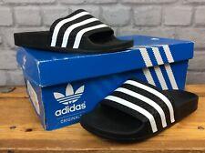 Adidas UK 5 EU 38 Sandals Black Slides Sandales Garçons Filles Enfants Femme LD