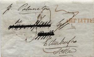 Victoria Ship Letter to UK 1846. Good Vic handstamps.
