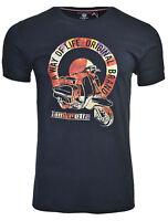 Lambretta Camisetas Manga Corta Cuello Redondo Northern Soul Algodón Hombre Gb