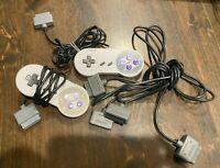 Nintendo SNES:2x retro-bit Replacement Controller + 2 6ft extender cables