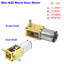 DC3V-12V Mini Micro N20 Worm Gear Motor Full Metal Gearbox DIY Robot Smart Car