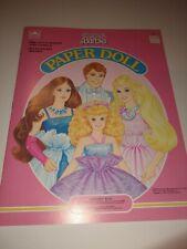 Vintage Jewel Secrets Barbie Paper Doll Golden Book Uncut Mattel