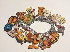Garfield The Cat Bracelet HANDMADE PLASTIC CHARMS Odie Jon Nermal Arlene Liz Fun