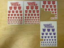 Transformers Logo Symbol Stickers For G1 Masterpiece Autobots Decepticons