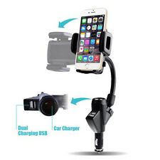 Brand New Car Mount Phone Holder Usb 2 Port Charger Cigarette Lighter For Gps