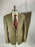Bespoke Vitale Barberis Canonico Brown Wool Mohair Suit 42L  34 x 33