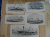 Job lot of antique cuttings - shipping interest boats - London Illustrated news