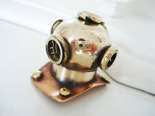 Sailor Steampunk Rustic Brass Diving Bell Helmet Pendant