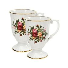 Royal Albert Old Country Roses Fluted Mugs Set of 4