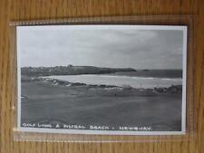 1900's-50's GOLF foto cartolina: ENGLAND & WALES-Fistral BEACH & GOLF collegamenti