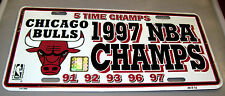Chicago Bulls NBA Team Metal License Plate 5 time NBA champs!  made in the USA