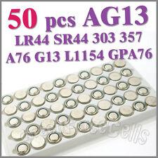 50 x AG13 G13 LR44 LR1154 GP76 GPA76 GS14 L1154 S06 Alkaline Button Cell Battery