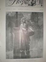 Ellaline Terris as Blue-Belle at the Vaudeville theatre London 1901 old print