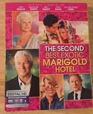 THE SECOND BEST EXOTIC MARIGOLD HOTEL BLU RAY WITH SLIPCOVER FREE SHIPPING
