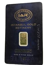 1 Gram Gold Bar From Istanbul Gold Refinery