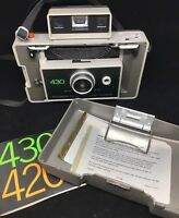 Vintage POLAROID 430 AUTOMATIC LAND Camera hard case + manual