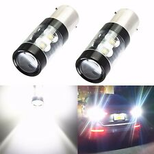 2x 50W CREE 1156 BA15S 6000K Super Bright LED White Backup Reverse Lights Bulbs