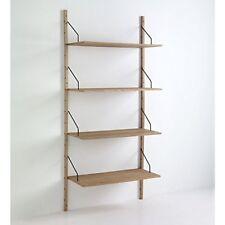 Libreria da parete 4 ripiani in MDF e legno massello Tomasucci Kiju