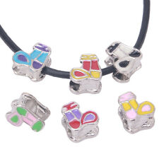 6x New Wholesale Six Mixed Color Enamel Socks Combination Charms Alloy Bead J