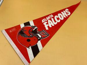 "Vintage Atlanta Falcons 1980's 29"" NFL Football Pennant Flag, Excellent"