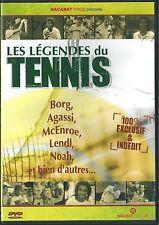 DVD LES LEGENDES DU TENNIS BORG AGASSI MC ENROE LENDL NOAH ETC