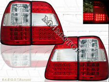 1998-2005 LAND CRUISER FJ100 LED TAIL LIGHTS RED/CLEAR 4 PCS 99 00 01 02 03 04