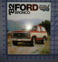 1982 Ford Truck Bronco Brochure Original
