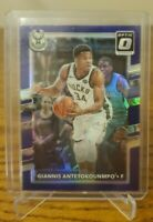 Giannis Antetokounmpo 2017-18 Donruss Optic Purple Prizm #81 Milwaukee Bucks MVP