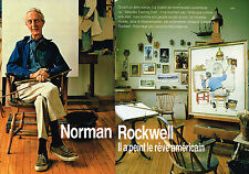Coupure de presse clipping 074  1993  NORMAN ROCKWELL (6 pages)