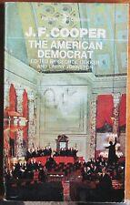 The American Democrat by James Fenimore Cooper (Penguin Paperback, 1969)