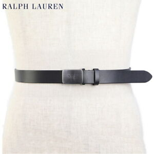 "Polo Ralph Lauren Leather Belt w/ silver ""PRL"" buckle"