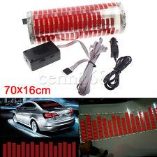 70*16cm Car Red Sticker Music Rhythm LED Flash Light Sound Activated Equalizer