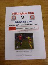 15/03/2014 Pikington XXX v Lichfield City & 13/03/2014 Youth v Tipton Town Youth