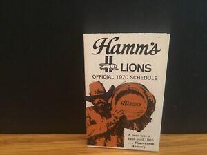 1970 Detroit Lions schedule.Hamm's Beer