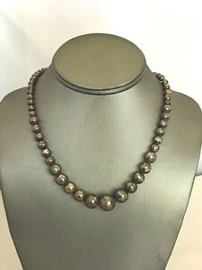 New Sterling Silver 24in. Custom Made Bead Type Necklace