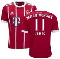 New 2017/18 Bayern Munich Home Jersey #11 JAMES Rodriguez - Colombia Choose Size