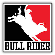 "Bull Rider PBR Rodeo Car Bumper Sticker Decal 5"" x 5"""