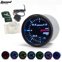 "2"" 52mm LED Smoke Face Car Auto Bar Turbo Boost Gauge Meter With Sensor Holder"