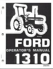 Ford Model 1310 Tractor Operator's Manual 42131010