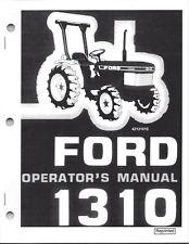Ford Model 1310 Tractor Operators Manual 42131010