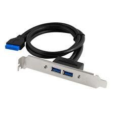 Q21 50cm USB 3.0 Slot Blende Slotblech Bracket 20pin auf 2x USB 3.0 A Buchse Hub