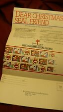 Canada Christmas seal #82 Tb back of book 1983 full pane & order P02