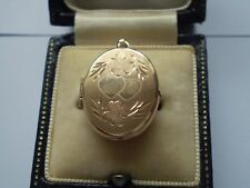An Wonderful 9.ct Gold Photo Pendent Locket With full 375 Hallmarks